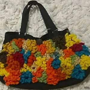 70s Vintage Wool Bag Purse